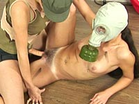 lesbian gas mask fuck